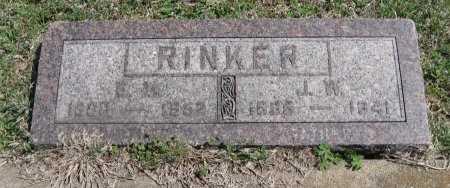 RINKER, JAMES WILLIAM - Chautauqua County, Kansas | JAMES WILLIAM RINKER - Kansas Gravestone Photos