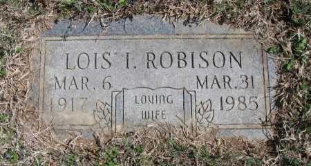 ROBISON, LOIS I - Chautauqua County, Kansas | LOIS I ROBISON - Kansas Gravestone Photos