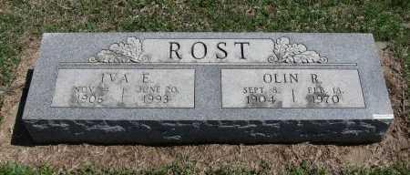 ROST, IVA E - Chautauqua County, Kansas | IVA E ROST - Kansas Gravestone Photos
