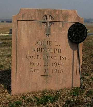 RUDOLPH, ARLIE L (VETERAN WWI) - Chautauqua County, Kansas | ARLIE L (VETERAN WWI) RUDOLPH - Kansas Gravestone Photos