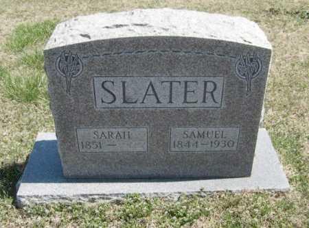 SLATER, SAMUEL - Chautauqua County, Kansas | SAMUEL SLATER - Kansas Gravestone Photos