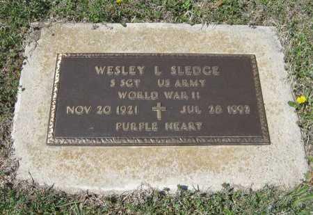 SLEDGE, WESLEY L (VETERAN WWII) - Chautauqua County, Kansas   WESLEY L (VETERAN WWII) SLEDGE - Kansas Gravestone Photos