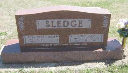 ROACH SLEDGE, MELBA MAXINE - Chautauqua County, Kansas   MELBA MAXINE ROACH SLEDGE - Kansas Gravestone Photos