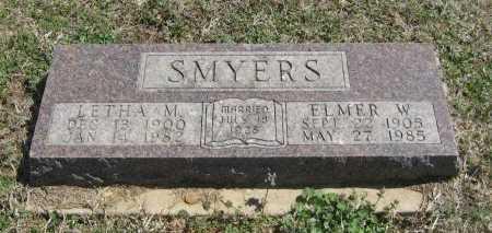 HUFFMAN SMYERS, LETHA M - Chautauqua County, Kansas | LETHA M HUFFMAN SMYERS - Kansas Gravestone Photos
