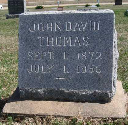 THOMAS, JOHN DAVID - Chautauqua County, Kansas | JOHN DAVID THOMAS - Kansas Gravestone Photos