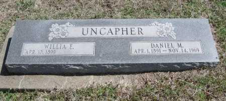 UNCAPHER, WILLIA E - Chautauqua County, Kansas   WILLIA E UNCAPHER - Kansas Gravestone Photos