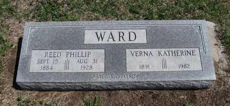 WARD, REED PHILLIP - Chautauqua County, Kansas | REED PHILLIP WARD - Kansas Gravestone Photos