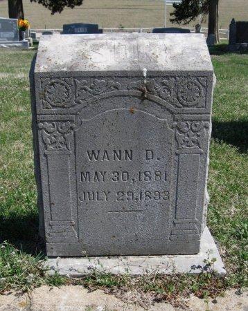 WARD, WANN D - Chautauqua County, Kansas   WANN D WARD - Kansas Gravestone Photos