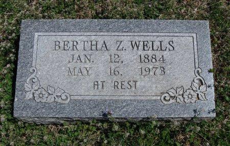 WELLS, BERTHA ZERUAH - Chautauqua County, Kansas | BERTHA ZERUAH WELLS - Kansas Gravestone Photos