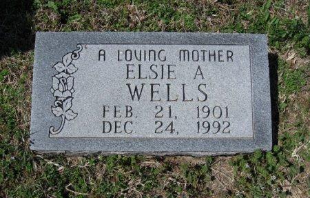 WELLS, ELSIE A - Chautauqua County, Kansas | ELSIE A WELLS - Kansas Gravestone Photos