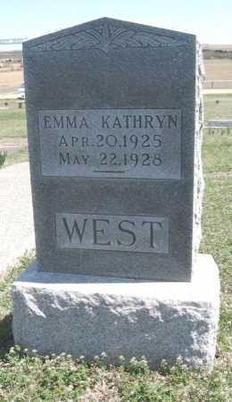 WEST, EMMA KATHRYN - Chautauqua County, Kansas   EMMA KATHRYN WEST - Kansas Gravestone Photos