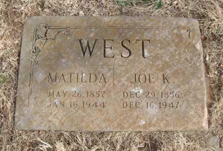 "WEST, MATILDA ""MILLIE"" - Chautauqua County, Kansas   MATILDA ""MILLIE"" WEST - Kansas Gravestone Photos"