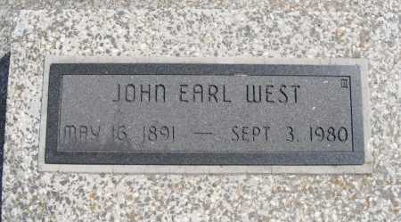 WEST, JOHN EARL - Chautauqua County, Kansas | JOHN EARL WEST - Kansas Gravestone Photos