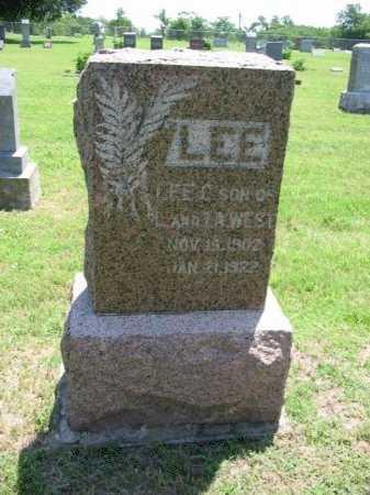 WEST, LEE CURTIS - Chautauqua County, Kansas | LEE CURTIS WEST - Kansas Gravestone Photos