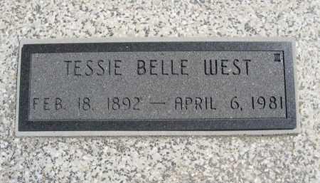 STERLING WEST, TESSIE BELLE - Chautauqua County, Kansas | TESSIE BELLE STERLING WEST - Kansas Gravestone Photos