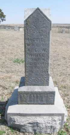 ROBERTS WHITE, MAGGIE - Chautauqua County, Kansas   MAGGIE ROBERTS WHITE - Kansas Gravestone Photos