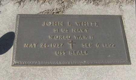 WHITE, JOHN L  (VETERAN WWII) - Chautauqua County, Kansas   JOHN L  (VETERAN WWII) WHITE - Kansas Gravestone Photos