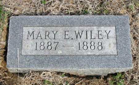 WILEY, MARY E - Chautauqua County, Kansas | MARY E WILEY - Kansas Gravestone Photos