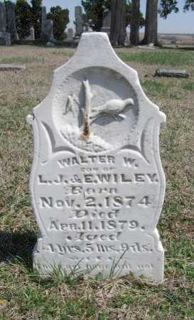 WILEY, WALTER W - Chautauqua County, Kansas   WALTER W WILEY - Kansas Gravestone Photos