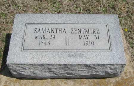ZENTMIRE, SAMANTHA - Chautauqua County, Kansas | SAMANTHA ZENTMIRE - Kansas Gravestone Photos