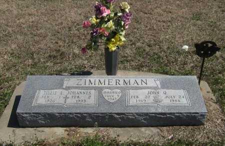 ZIMMERMAN, JOHN Q (VETERAN WWII) - Chautauqua County, Kansas | JOHN Q (VETERAN WWII) ZIMMERMAN - Kansas Gravestone Photos