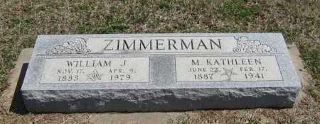 ZIMMERMAN, M KATHLEEN - Chautauqua County, Kansas | M KATHLEEN ZIMMERMAN - Kansas Gravestone Photos