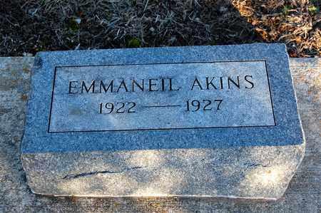 AKINS, EMMANEIL - Cherokee County, Kansas | EMMANEIL AKINS - Kansas Gravestone Photos