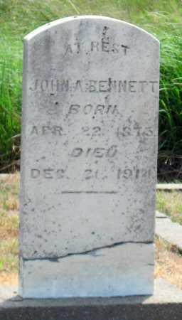 BENNETT, JOHN A - Cherokee County, Kansas | JOHN A BENNETT - Kansas Gravestone Photos