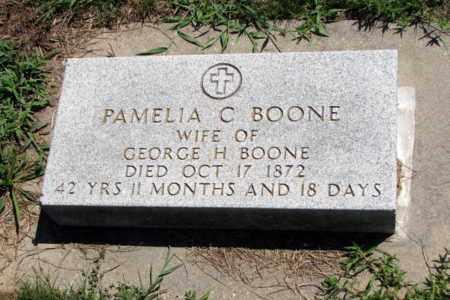 BOONE, PAMELIA C - Cherokee County, Kansas | PAMELIA C BOONE - Kansas Gravestone Photos