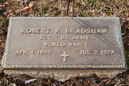 BRADSHAW, ROBERT  R (VETERAN WWII) - Cherokee County, Kansas | ROBERT  R (VETERAN WWII) BRADSHAW - Kansas Gravestone Photos