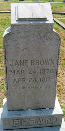 BROWN, JANE - Cherokee County, Kansas | JANE BROWN - Kansas Gravestone Photos