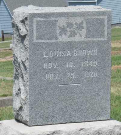 BROWN, LOUISA - Cherokee County, Kansas | LOUISA BROWN - Kansas Gravestone Photos