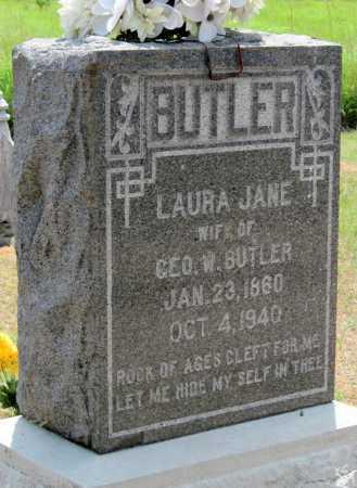 BUTLER, LAURA JANE - Cherokee County, Kansas | LAURA JANE BUTLER - Kansas Gravestone Photos