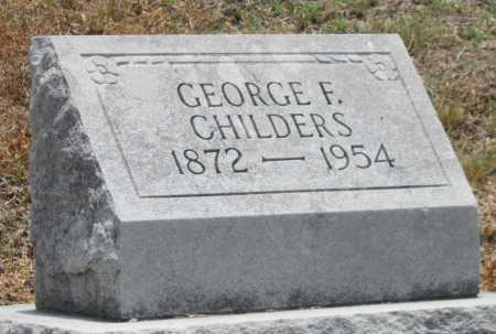 CHILDERS, GEORGE FRANK - Cherokee County, Kansas   GEORGE FRANK CHILDERS - Kansas Gravestone Photos