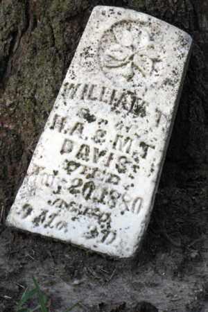 DAVIS, WILLIAM T - Cherokee County, Kansas | WILLIAM T DAVIS - Kansas Gravestone Photos