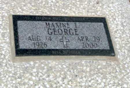 GEORGE, MAXINE L - Cherokee County, Kansas | MAXINE L GEORGE - Kansas Gravestone Photos