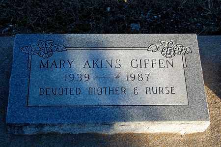 GIFFEN, MARY - Cherokee County, Kansas | MARY GIFFEN - Kansas Gravestone Photos