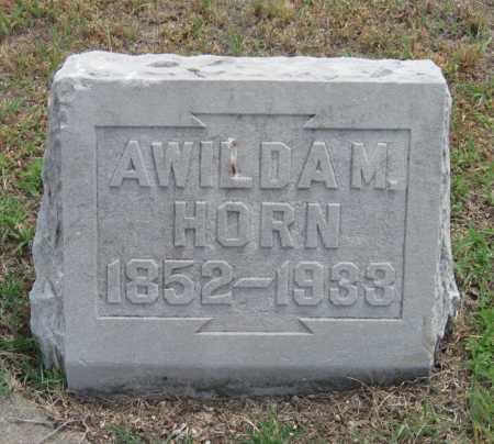HORN, AWILDA M - Cherokee County, Kansas | AWILDA M HORN - Kansas Gravestone Photos