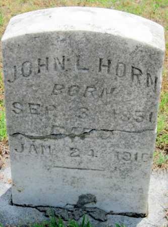 HORN, JOHN LITTLETON - Cherokee County, Kansas | JOHN LITTLETON HORN - Kansas Gravestone Photos