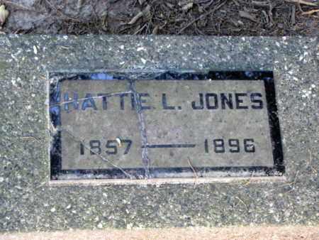 JONES, HATTIE L - Cherokee County, Kansas | HATTIE L JONES - Kansas Gravestone Photos