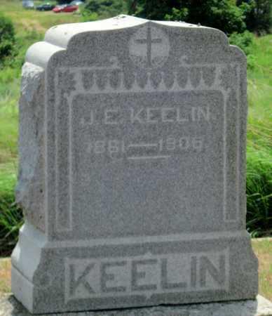 KEELIN, J E - Cherokee County, Kansas | J E KEELIN - Kansas Gravestone Photos