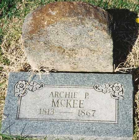 MCKEE, ARCHIBALD PRICE - Cherokee County, Kansas   ARCHIBALD PRICE MCKEE - Kansas Gravestone Photos