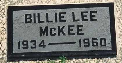 MCKEE, BILLIE LEE - Cherokee County, Kansas | BILLIE LEE MCKEE - Kansas Gravestone Photos