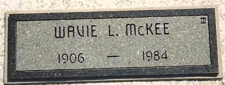 MCKEE, WAVIE L - Cherokee County, Kansas   WAVIE L MCKEE - Kansas Gravestone Photos