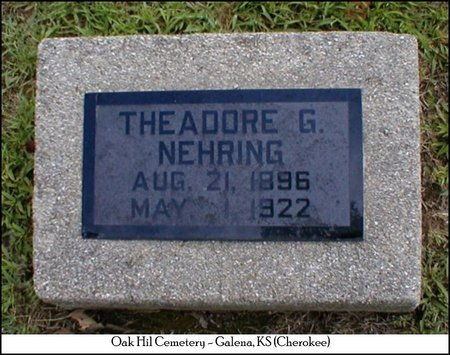NEHRING, THEADORE GEORGE - Cherokee County, Kansas | THEADORE GEORGE NEHRING - Kansas Gravestone Photos