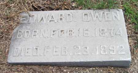 OWEN, EDWARD - Cherokee County, Kansas | EDWARD OWEN - Kansas Gravestone Photos