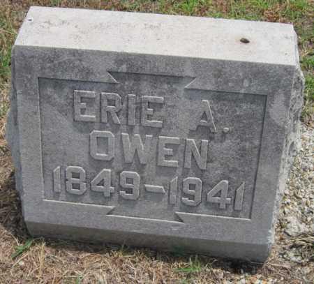 OWEN, ERIE A - Cherokee County, Kansas | ERIE A OWEN - Kansas Gravestone Photos