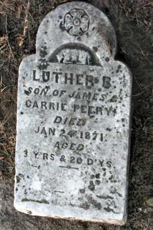 PEERY, LUTHER B - Cherokee County, Kansas | LUTHER B PEERY - Kansas Gravestone Photos
