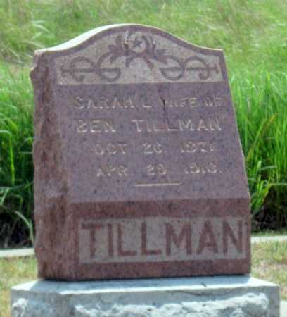TILLMAN, SARAH L - Cherokee County, Kansas | SARAH L TILLMAN - Kansas Gravestone Photos