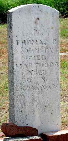 VANNOY, THOMAS G   (VETERAN UNION) - Cherokee County, Kansas   THOMAS G   (VETERAN UNION) VANNOY - Kansas Gravestone Photos